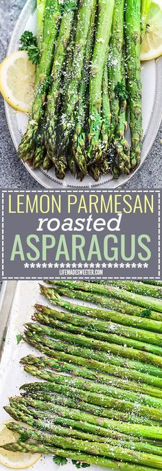 Lemon Parmesan Roasted Asparagus is the perfect quick and easy side dish for spring, holidays or any night of the week. Best of all, this recipe requires less than 10 minutes of prep with fresh lemon juice, garlic and Parmesan.So simple and delicious!
