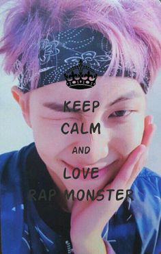 Keep Calm And Love Rap Monster ❤❤