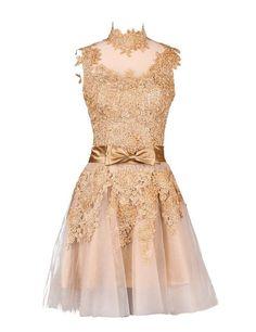 Champagne Graduation Dresses Short Vestido De Festa Branco