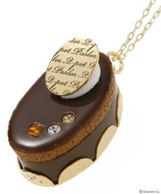 Petit Chocolate Cream Cake Necklace