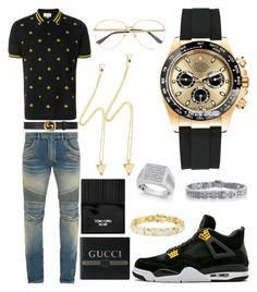 Gucci x Jordan look Teen Swag Outfits, Dope Outfits For Guys, Stylish Mens Outfits, Tomboy Outfits, Girl Outfits, Look Hip Hop, Fresh Outfits, Simple Outfits, Matching Couple Outfits