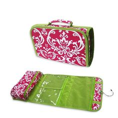 Amazon.com : Pink Floral Hanging Travel Toiletry Cosmetic Bag : Makeup Travel Cases And Holders : Beauty