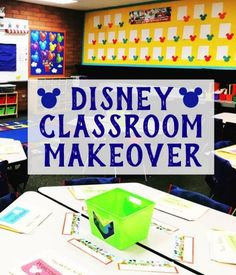 Disney Classroom Decor/Makeover - Simply Kinder Check out our Disney Classroom Makeover using Eureka's Disney Geo Mickey and other Disney Classroom decor. Lots of teacher hacks for decorating too! Elementary Classroom Themes, Preschool Classroom Decor, Classroom Decor Themes, Classroom Design, Classroom Ideas, Future Classroom, Preschool Decorations, Kindergarten Classroom Organization, Daycare Crafts