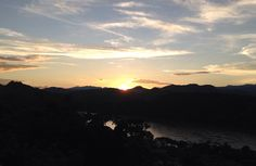 Sunset mount phousi, Luang Prabang Laos
