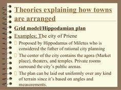 Greek City Urban Arrangement /Theory