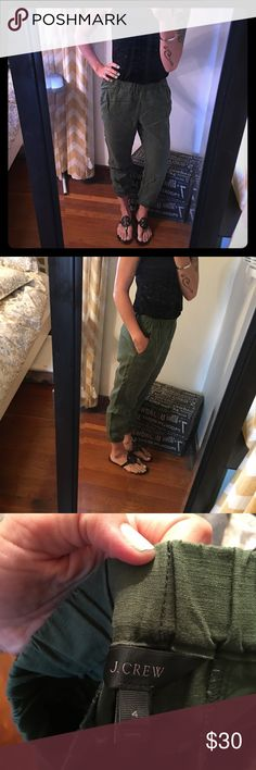 J.Crew Jogger Pants Excellent condition! Like new. I don't think I ever wore them! J. Crew Pants Track Pants & Joggers