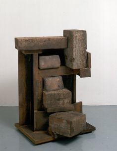 Anthony Caro   Secret Stair  (1994/1995)  Steel, stoneware & wood, 119 x 97 x 98cm,
