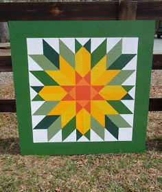 Cozy Barn Quilts by Marj & Nora - Yellow Sunflower
