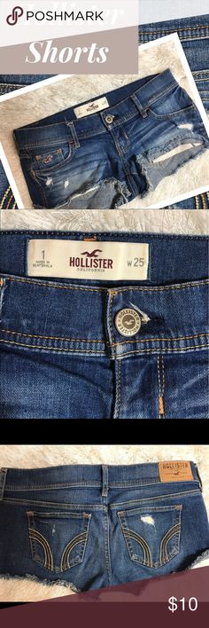 🌴HOLLISTER SHORTS🌴 Hollister Shorts. Distressed by manufacturer. Free of rips, tears and stains that were not placed there by manufacturer. Great Condition. Previously owned. Smoke Free Pet Free Home Hollister Shorts Jean Shorts