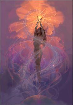Erowid Visionary Art Vaults : spirit of fantasy fest by john pitre Fantasy Kunst, Fantasy Art, Art Visionnaire, Goddess Art, Moon Goddess, Sacred Feminine, Devine Feminine, Inspiration Art, Angel Art