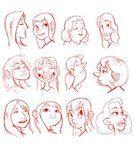 character design heads 2 by *LuigiL on deviantART