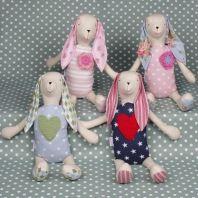 Handmade Molly and Jack bunnies perfect to dress up the nursery shelves Nursery Shelves, Baby Sleep, Educational Toys, Baby Toys, Bunnies, Handmade, Dress, Hand Made, Dresses
