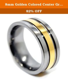 8mm Golden Colored Center Groove Tungsten Wedding Band Size (10). Tungsten Carbide is the hardest of all metals. It is polished to a perfect mirror finish using diamonds, and unlike other metals, it will retain the exact polish for decades to come. In fact, the only way to scratch a tungsten ring is with a diamond. No other material will affect it! Tungsten is about 10 times harder than 18K Gold or white gold, 5 times harder than tool steel, and 4 times harder than titanium. Mirror…