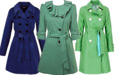 Jewel - colored trench coats.