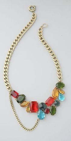 Madewell Dangly Rhinestone Necklace