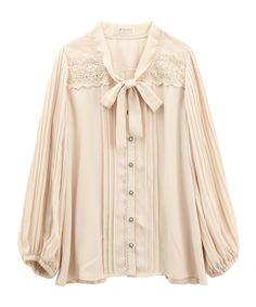 axes femme online shop|プリーツブラウス (本体)ポリエステル100%(レース)レーヨン100%(レース)  (基布)ナイロン100%(刺繍)綿100%