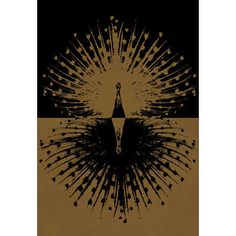 Gold and Black Peacock Art Poster