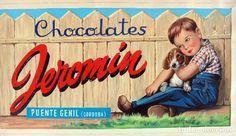 CARTEL PUBLICIDAD, PINTADO A MANO, PINTURA ORIGINAL, CHOCOLATES JEROMIN PUENTE GENIL CORDOBA - Foto 1 Chocolates, Advertising Poster, Old Advertisements, Vintage Posters, Vintage Ads, Cordoba, Bridges, Schokolade, Chocolate
