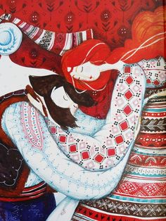 Creative Illustration, Meeha, Book, Beautiful, and Couple image ideas & inspiration on Designspiration Creative Illustration, Children's Book Illustration, Watercolor Illustration, Watercolor Art, Scandinavian Folk Art, Ukrainian Art, Turkish Art, Wall Art Designs, Whimsical Art