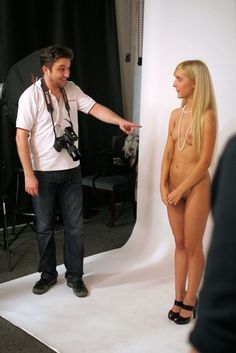 Clothed Male Photographer Naked Female Model