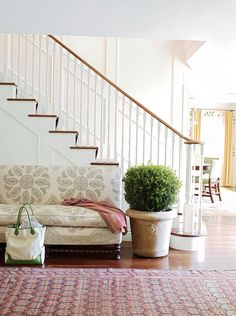 love this electric traditional entryway