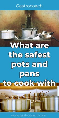 A Buyer's Guide: What Are the Safest Pots and Pans to Cook With? This article will discuss some of the safest pots and pans to cook with so you may cook with heart and serve with heart. Healthy Meals To Cook, No Cook Meals, Healthy Cooking, Ceramic Pots, Glass Ceramic, Safest Cookware, Acidic Foods, Baking Supplies, Cooking Tools