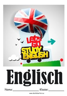 Deckblatt Schulfach Englisch