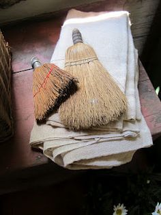 Linen and whisk brooms