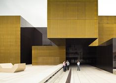 Brass Cladding  International Centre for the Arts Jose de Guimarães by Pitagoras Arquitectos