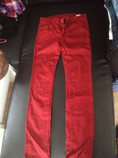 Jean UNIQLO red - vinted.fr