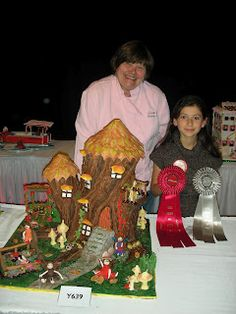 With Love & Confection- My daughter with Colette Peters and her prize winning gingerbread structure at The National Gingerbread House Competition. She was one of the judges.