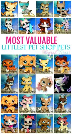 Littlest Pet Shop pets.