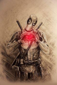 #Deadpool #Fan #Art. (Deadpool) By:Jullelin. (THE * 5 * STÅR * ÅWARD * OF: * AW YEAH, IT'S MAJOR ÅWESOMENESS!!!™)[THANK U 4 PINNING!!!<·><]<©>ÅÅÅ+(OB4E)