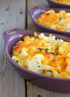Cauliflower, Potato and Cheddar Bake