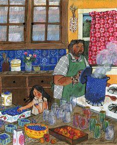 Phoebe Wahl Preserve ~ For August in the 2016 Taproot Magazine Pretty Art, Cute Art, Arts Ed, Naive Art, Children's Book Illustration, Art Inspo, Folk Art, Art Drawings, Artwork