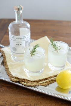 Lemon, Rosemary & Cucumber Cocktail recipe