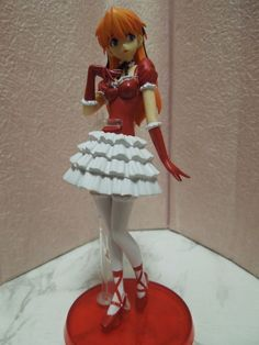 Neon Genesis Evangelion Portraits Figure Asuka Langley in Red Dress