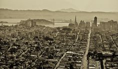 Aerial Photography of San Francisco.  Selected as Inspiration Photograph by YouPic  From the art book Slanted Moments SF.