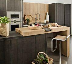 imagens de cozinhas com ilhas minimalista - Pesquisa Google. Balcão retrátil...