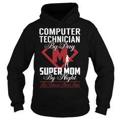 Computer Technician Super Mom Job Title TShirt