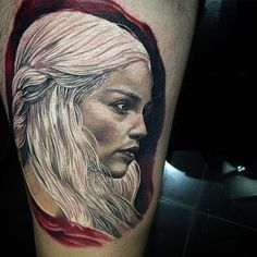 Daenerys Game of Thrones tattoo by Dylan Weber