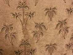 1.83 Yd Tropical Island Palm Trees Tapestry FABRIC ONLY Make Pillows Quilt Craft