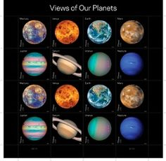 Stamps released by USPS, all from NASA's latest images.