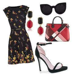 """""""Untitled #296"""" by miss22salvatore on Polyvore featuring Boohoo, Delalle, 1st & Gorgeous by Carolee and Burberry"""