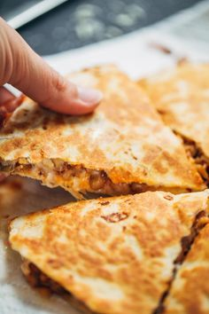 Super Easy Lentil Quesadillas | pinchofyum.com