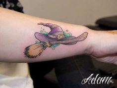 tattoo witch broom and hat - Google Search