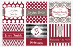 Alabama Crimson Tide Gift Tags or Calling Cards