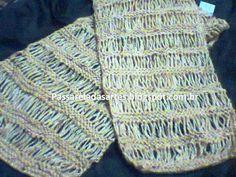 Artes na Passarela: Cachecol de tricô - knitted scarf w/ dropped stitches