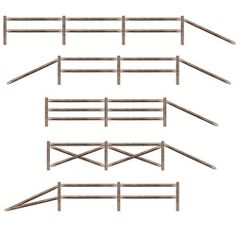 Split Rail Fence Party Props (11/pkg)