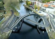 pedestrian bridge in netherlands | ... pedestrian and bicycle wheelchair bridge in purmerend the netherlands